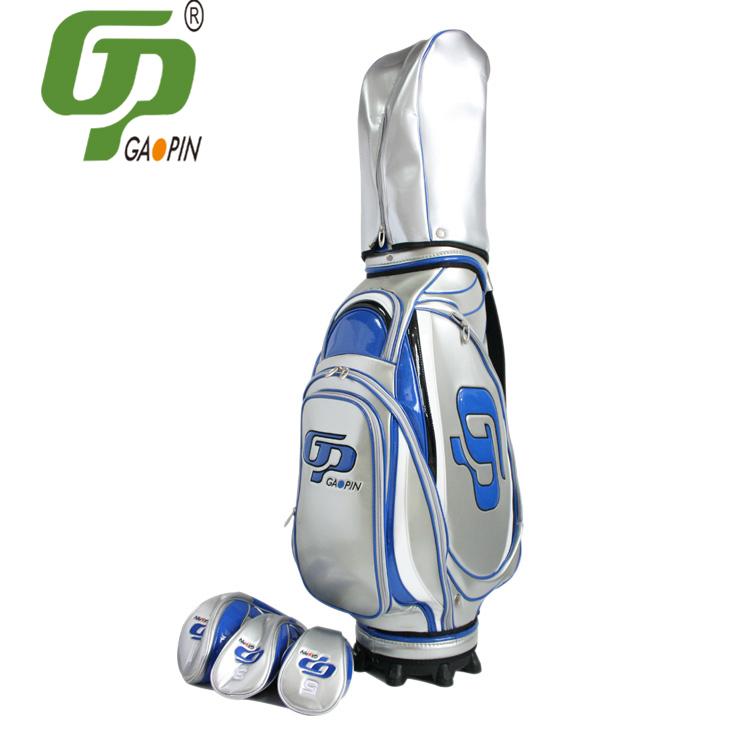 QD-91306 高尔夫球包-亮银球包