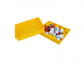 黄色装球盒